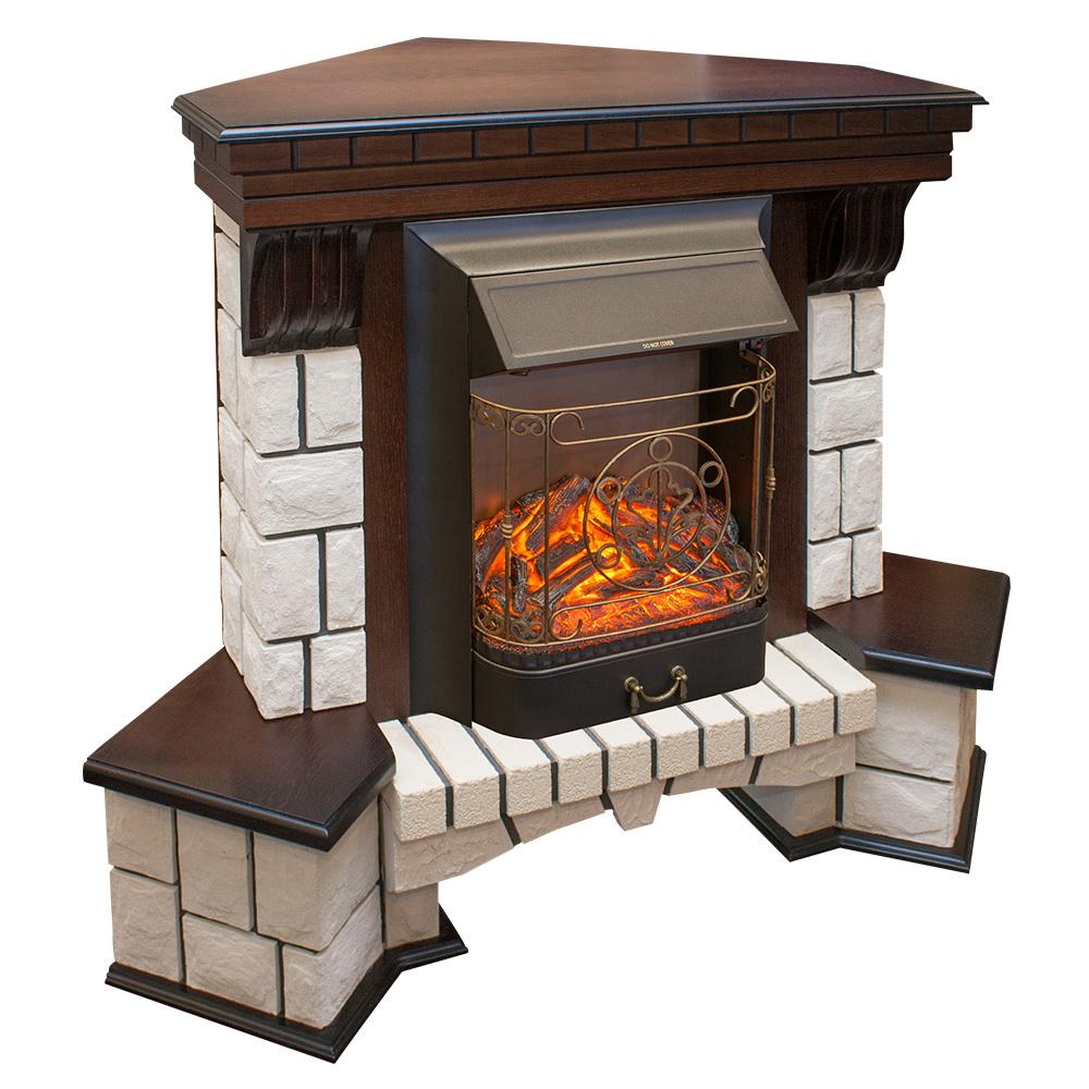 Электрокамин Real flame Stone corner std