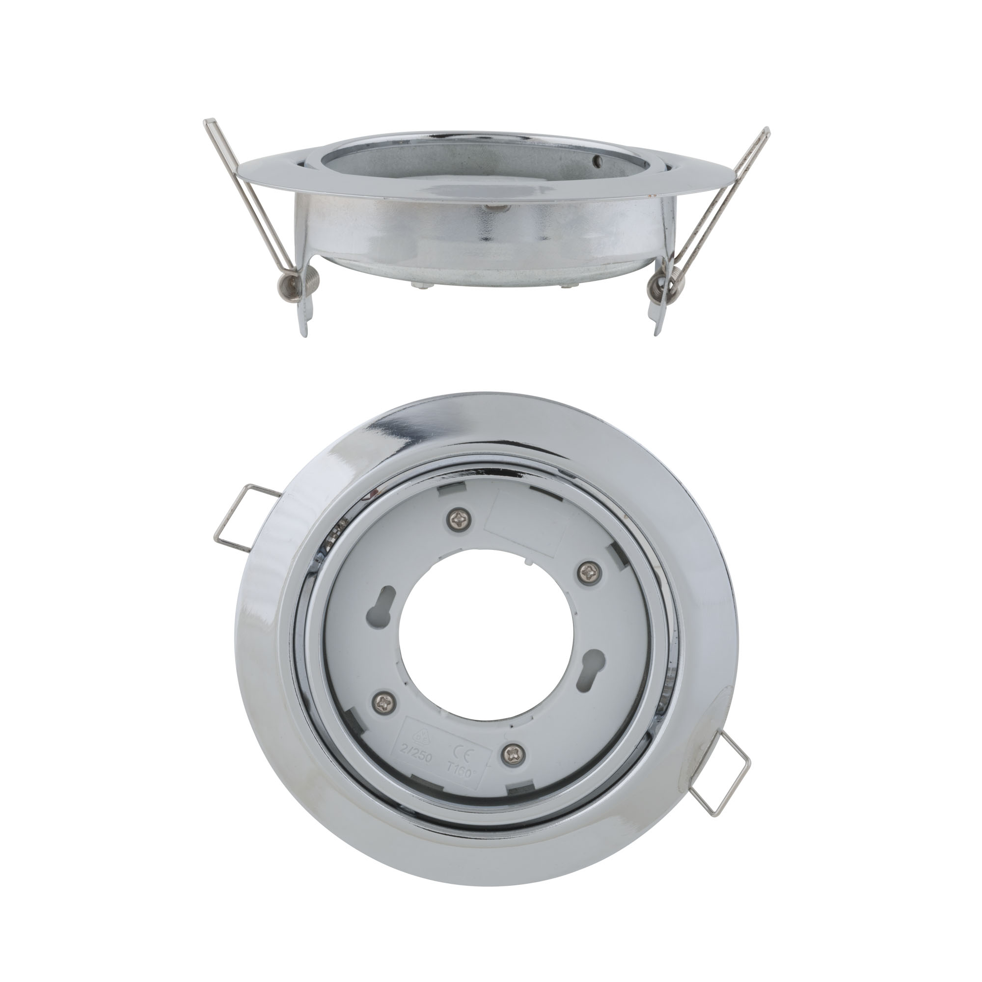 Светильник встраиваемый Uniel Gx53/h5-m silver 1 prom