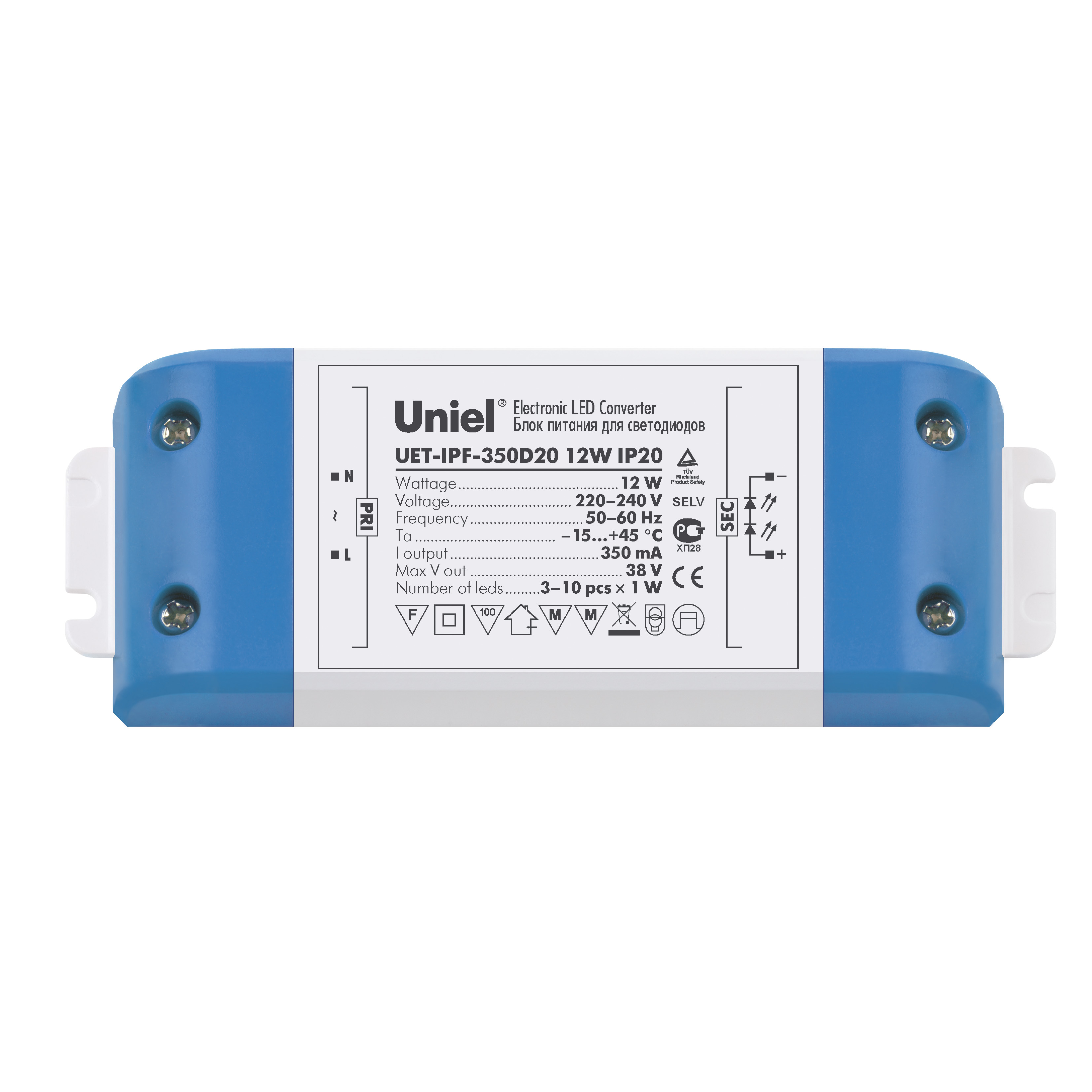 Драйвер Uniel Uet-ipf-350d20