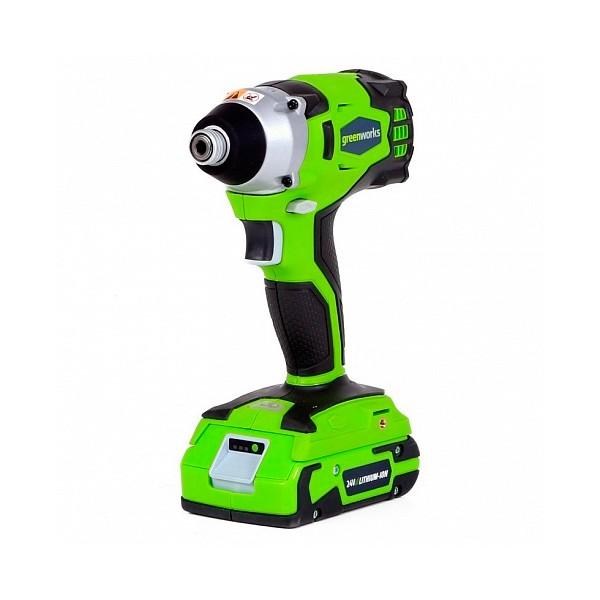 Гайковерт аккумуляторный Greenworks Gd24id (32067)