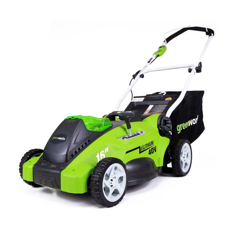 Аккумуляторная газонокосилка Greenworks G40lm40 (2500007)