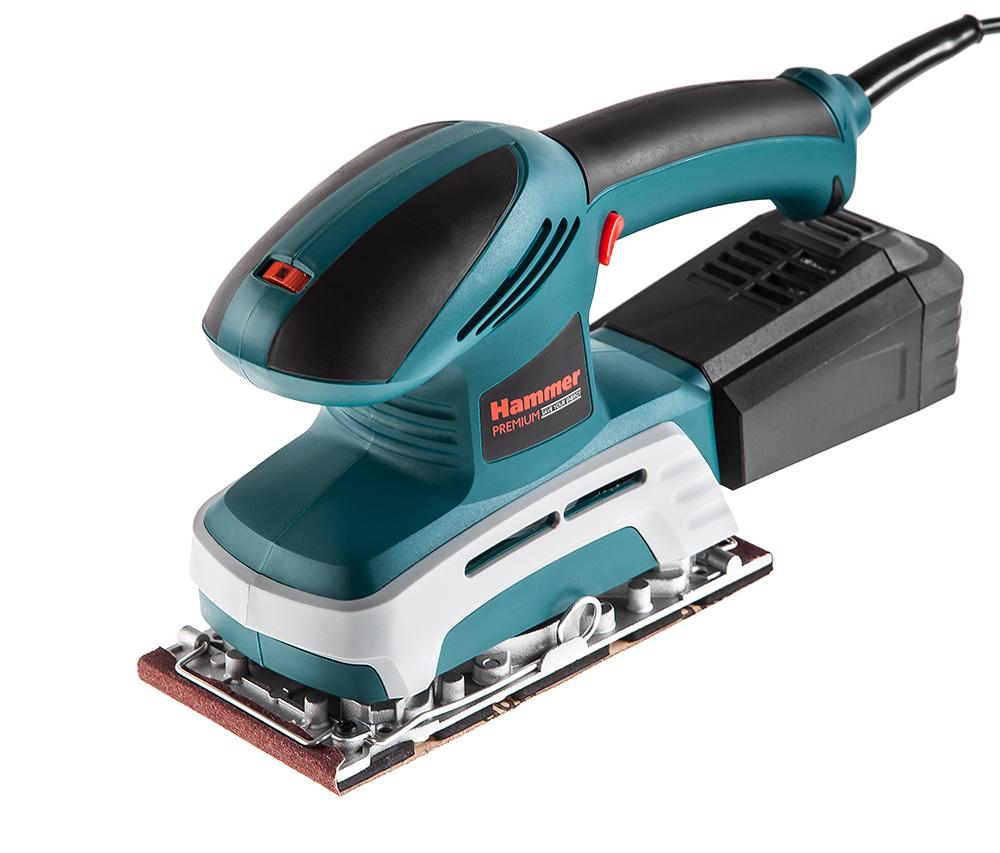 Машинка шлифовальная плоская (вибрационная) Hammer Psm220С premium