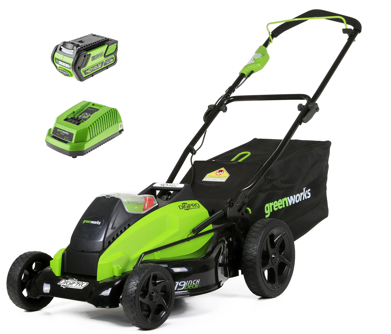 Аккумуляторная газонокосилка Greenworks Gd40lm45 (2500407ub)