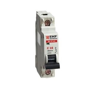 Выключатель Ekf Mcb4763-6-1-10c-pro