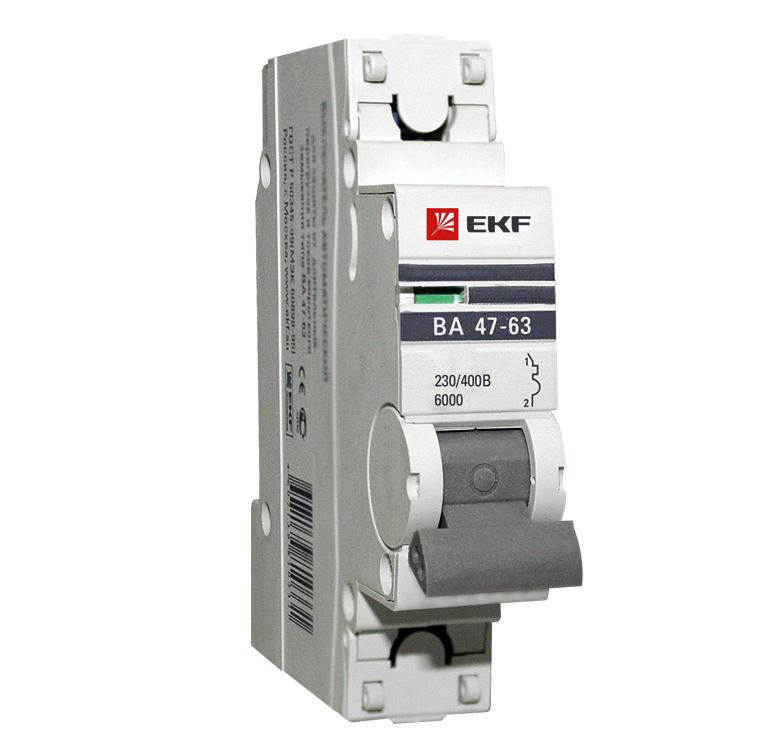 Выключатель Ekf Mcb4763-6-1-16c-pro