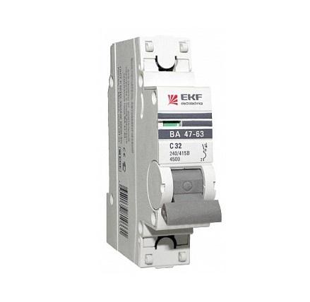Выключатель Ekf Mcb4763-1-25c-pro