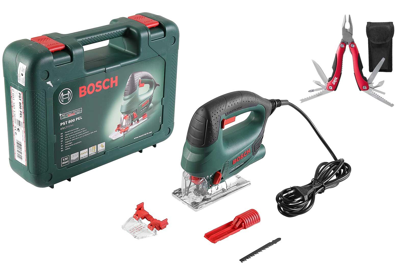 Лобзик Bosch Pst 800 pel compact + мультитул skil 2610z06083 14 в 1