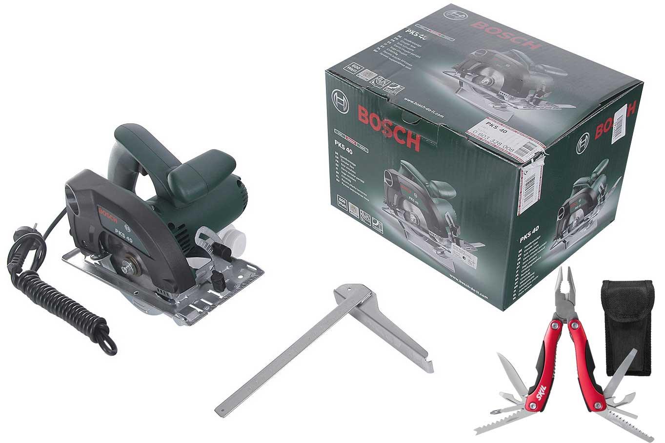 Пила циркулярная Bosch Pks 40 + мультитул skil 2610z06083 14 в 1