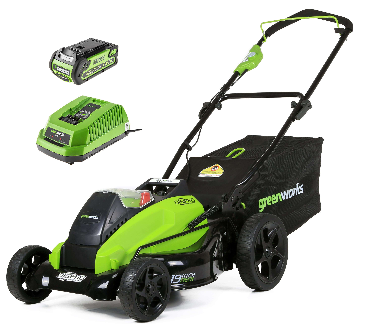Аккумуляторная газонокосилка Greenworks G40lm45 (2500107)