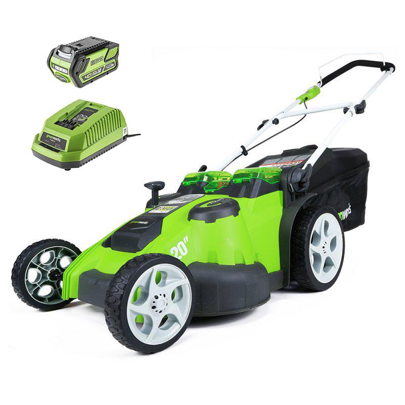 Аккумуляторная газонокосилка Greenworks G40lm49db (2500207)