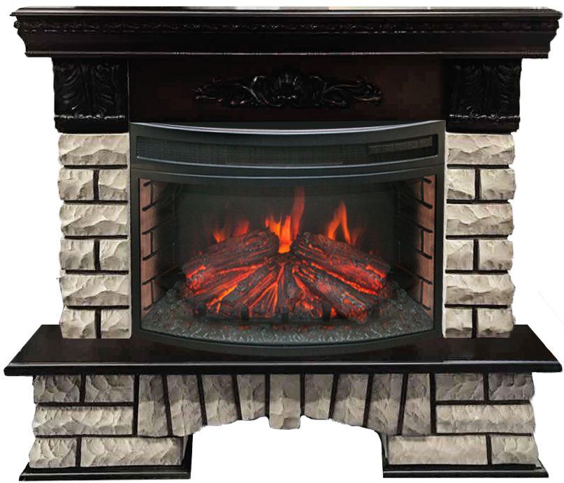 Электрокамин Real flame Country lux rock 25 ao + firefield 25 s ir