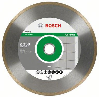 Круг алмазный BOSCH Standard for Ceramic  300 Х 25.4/30 корона (сплошной)