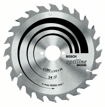 Диск пильный твердосплавный BOSCH Optiline Wood 190 X 48 X 30