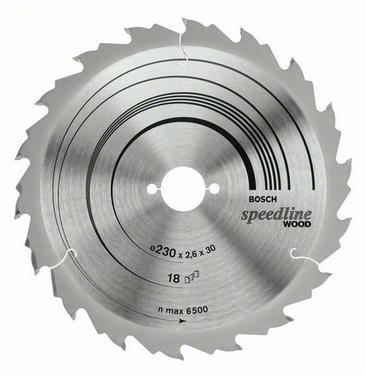 Диск пильный твердосплавный BOSCH Speedline Wood 230 X 18 X 30