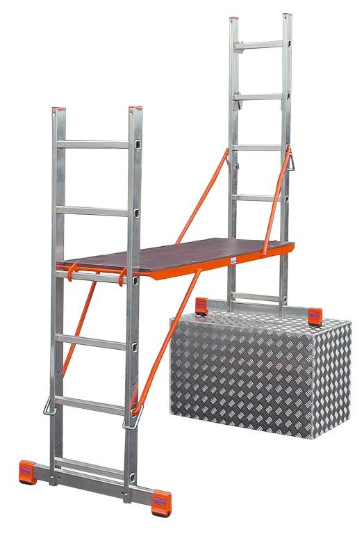 Лестница алюминиевая приставная Krause Variotop 121370