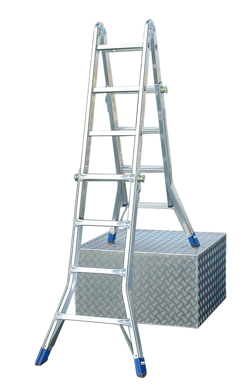Лестница алюминиевая телескопическая Krause Stabilo 123565