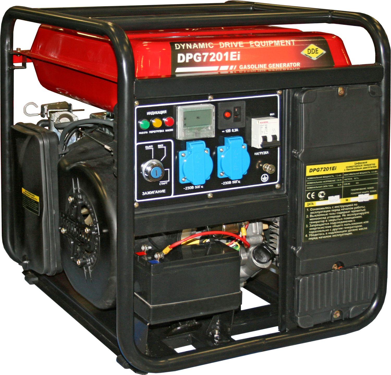 Бензиновый инверторный генератор Dde Dpg7201ei инверторный