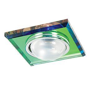 Светильник встраиваемый АКЦЕНТ Crystal 301 хром/цветной