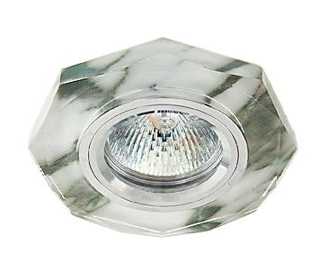 Светильник встраиваемый АКЦЕНТ Crystal 755 алюминий/серый