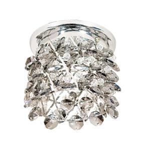 Светильник встраиваемый АКЦЕНТ Crystal 814 хром/дымчатый