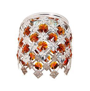 Светильник встраиваемый АКЦЕНТ Crystal 824 хром/янтарь