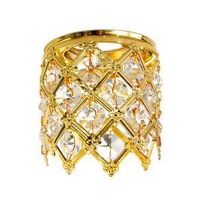 Светильник встраиваемый АКЦЕНТ Crystal 825 золото/прозрачный
