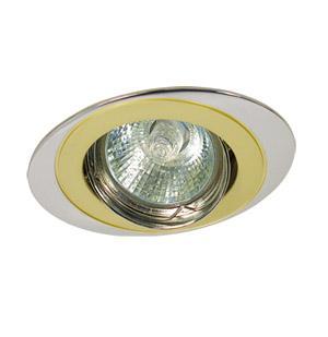 Светильник встраиваемый АКЦЕНТ Wl-110 жемчужное золото/хром