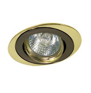 Светильник встраиваемый АКЦЕНТ Wl-110 чёрный никель/золото