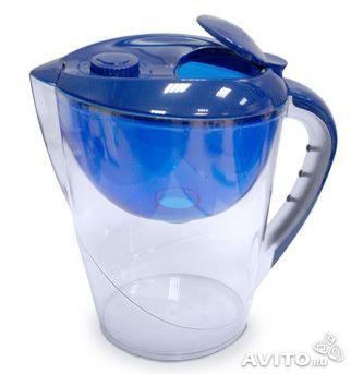 Фильтр-кувшин для жесткой воды ГЕЙЗЕР Аквариус Ж синий