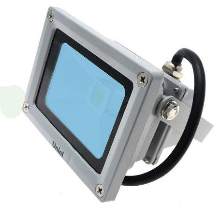 Прожектор светодиодный Uniel Ulf-s01-10w/blue от 220 Вольт