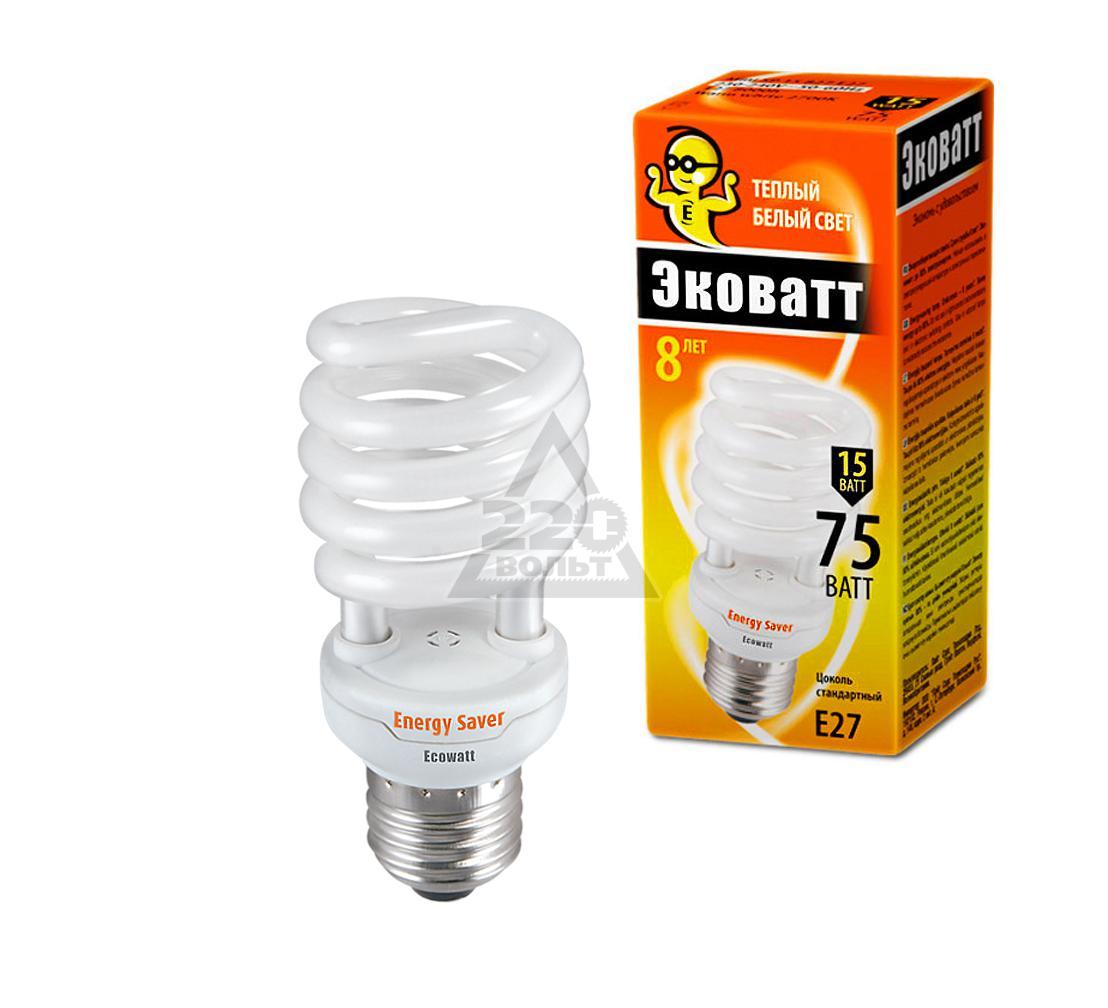 Лампа энергосберегающая ECOWATT Mini SP 15W 827 E27