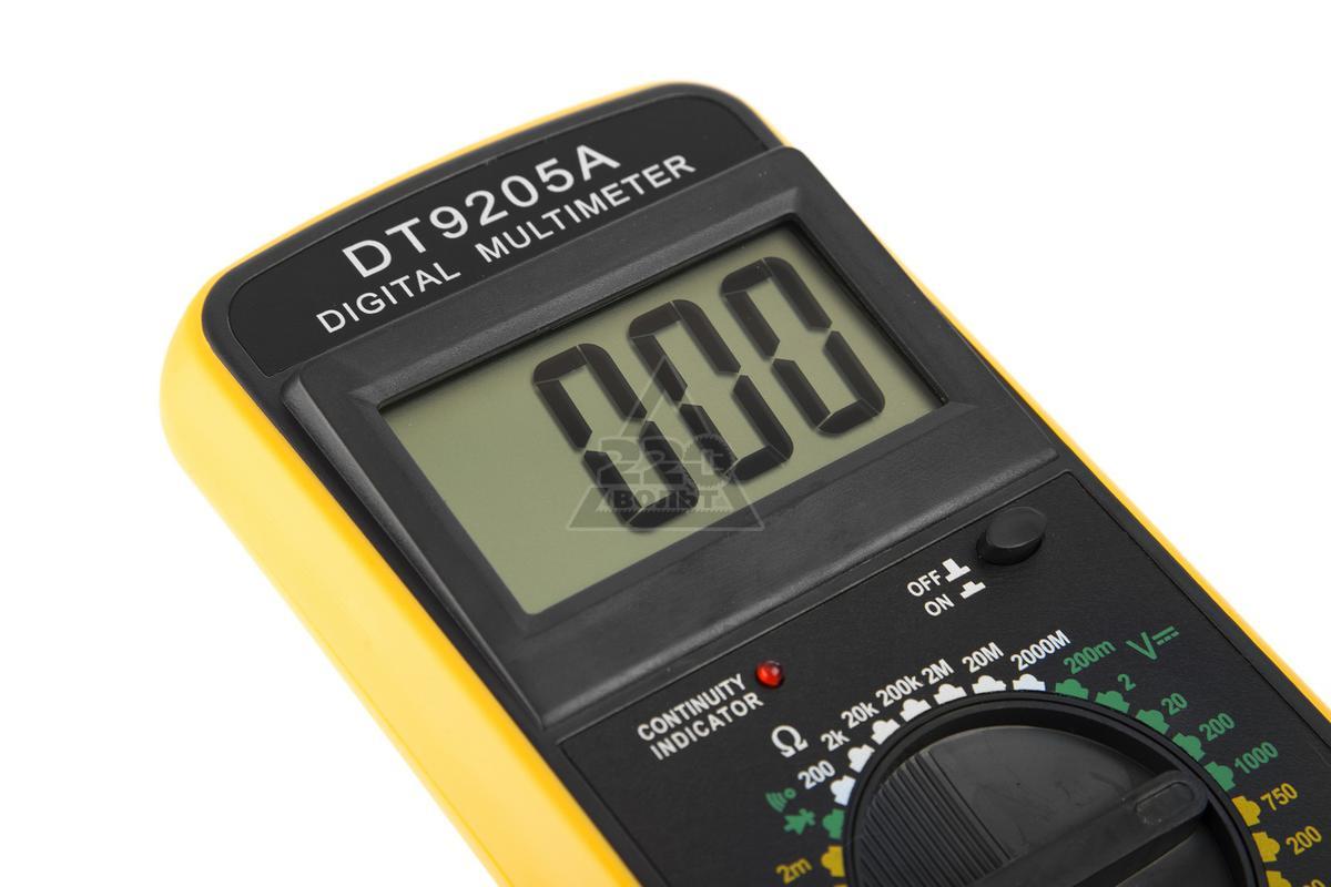 мультиметр dt 9205а схема