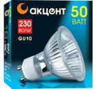 Лампа галогенная АКЦЕНТ JCDRC 230В  50W GU10 с отражателем и защитным стеклом