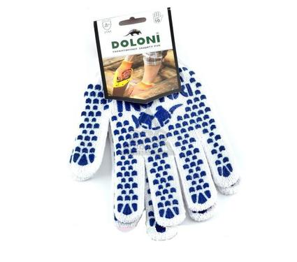 Перчатки ПВХ DOLONI 577  с точкой ПВХ