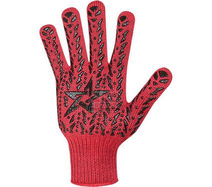Перчатки ПВХ DOLONI 4040  с ПВХ-рис. Звезда