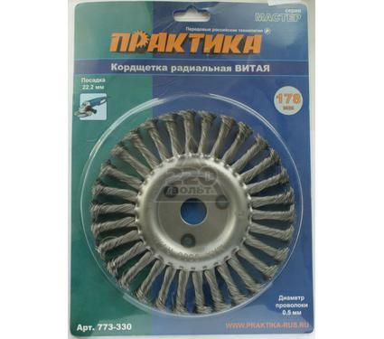 Кордщетка ПРАКТИКА 773-330 178x22 мм, радиальная витая