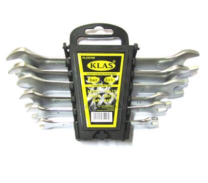 Набор рожковых гаечных ключей в держателе, 6 шт. KLAS IK01-306