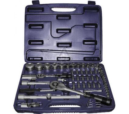 Набор торцевых головок с принадлежностями в пластиковом кейсе, 56 предметов FIT 65156