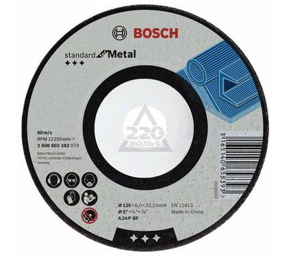 Круг зачистной BOSCH Standard for Metal 180 Х 6 Х 22