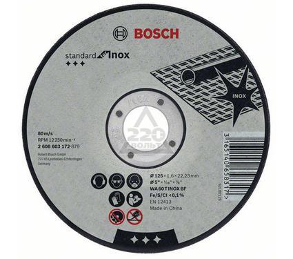 Круг отрезной BOSCH Standard for Inox 115 Х 1,6 Х 22 по нержав.