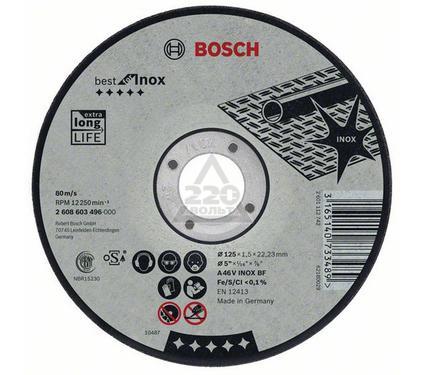 Круг отрезной BOSCH Best for Inox 115 Х 2,5 Х 22 по нержавейке, выпуклый
