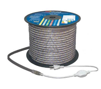 Световая лента UNIEL ULS-3528-60LED/m-10mm-IP67-220V-4,8W/m-100M-YELLOW