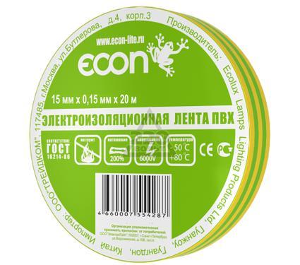 Изолента ECON 15/20  желто-зеленый