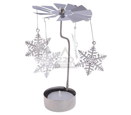 Подсвечник GARDMAN Снежинки с чайной свечой
