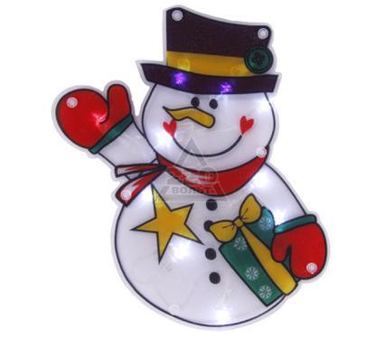 Новогодняя гирлянда-панно на окно LUNTEN RANTA ''Снеговичок''