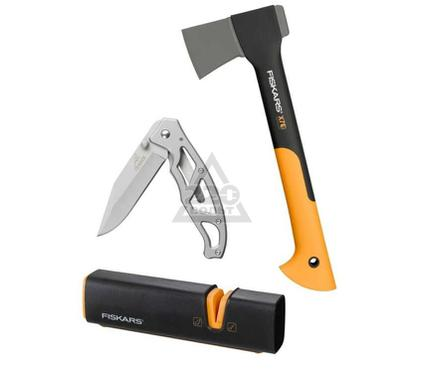 Набор: Топор FISKARS + нож Gerber и точилка