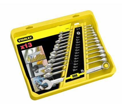 Набор комбинированных гаечных ключей в держателе, 13 шт. STANLEY 4-94-648
