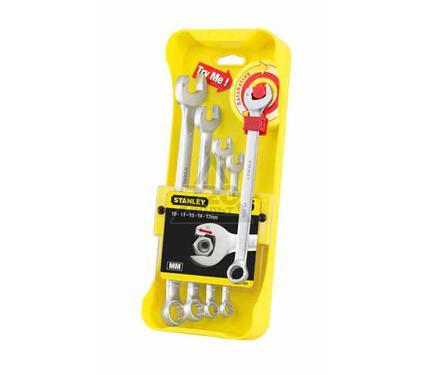 Набор комбинированных гаечных ключей в держателе, 5 шт. STANLEY ''Ratcheting Wrench'' 4-95-659