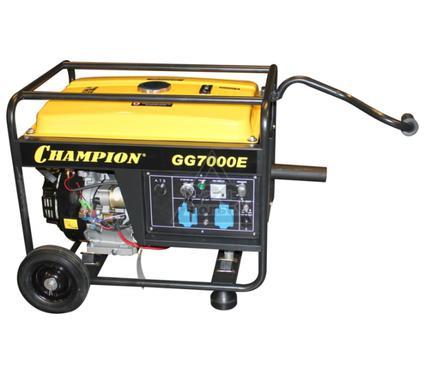 Бензиновый генератор CHAMPION GG7000E+ATS+газоотв.