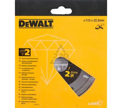 Круг алмазный DEWALT 115x22.2x2мм сегментный, по абразивам